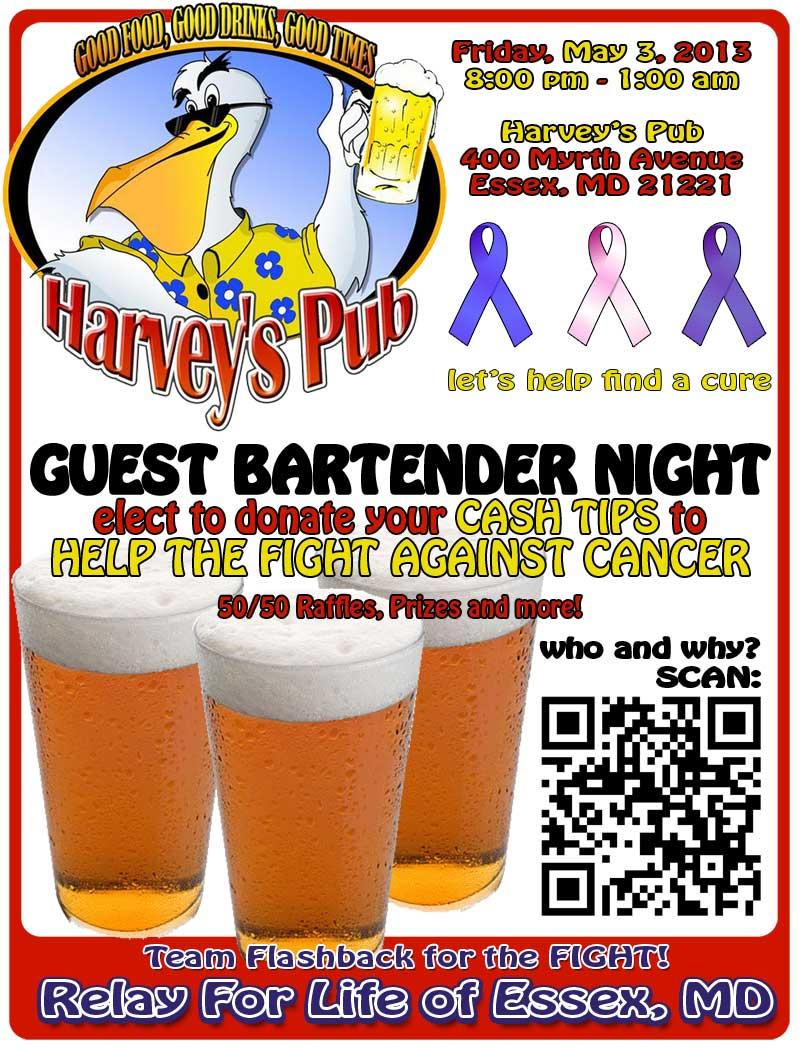 Guest bartender fundraiser